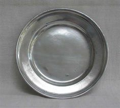 Tudor Wooden Trencher & Pewter plate. Pewter was used with guests to ...