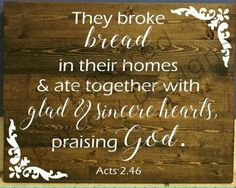 The kitchen and dining area are the heart of the home & this #homedecor is the perfect addition to your space. #acts2:36 #breakbread