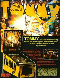 Data East The Who's Tommy Pinball Wizard 1994