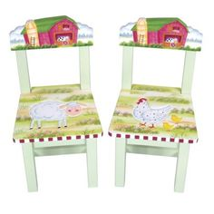 Guidecraft Little Farmhouse Extra Chairs Set of 2.Opens in a new window  $89/SET OF 2  PAINT OURSELVES