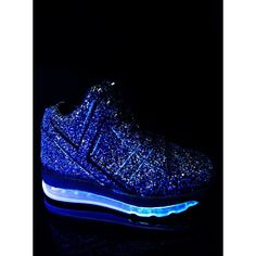 Y.R.U. Black Qozmo Aiire Glitter Sneaker (£105) ❤ liked on Polyvore featuring shoes, sneakers, black trainers, kohl shoes, black glitter sneakers, black sparkly shoes and sparkly shoes