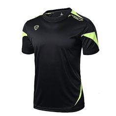 INFLATION Mens Short Sleeve T Shirts Athletic Active Tee for Running Fitness and Workout -- Details can be found by clicking on the image. (This is an affiliate link)