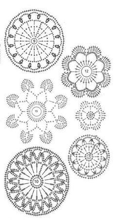 Un po' di schemi per il pizzo d'Irlanda - Irish crochet patterns