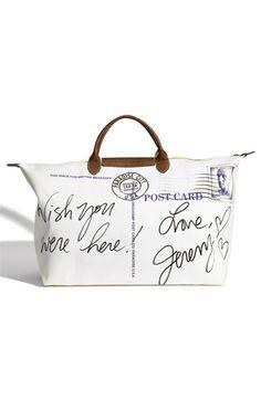 Longchamp 'Jeremy Scott Paradise' Duffel | Nordstrom, vintage postcard, bag