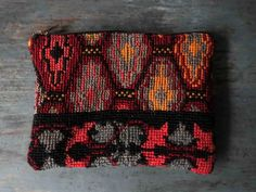 Southwestern Kilim Woven Tapestry Zip pouch by WarpWoofNotions