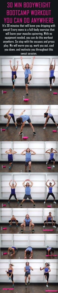 The 30 minute bootcamp workout you can do anywhere. No need to head to the park or the gym for a good bootcamp session. | Posted By: NewHowtoLoseBellyFat.com