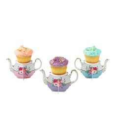 Take a look at this Teapot Cupcake Stand - Set of Six by Talking Tables on #zulily today!