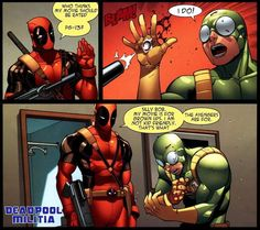 Something deadpool actually said !!Hugs and Pins