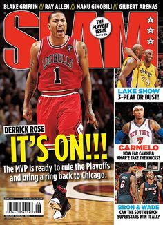 SLAM 148: Chicago Bull Derrick Rose appeared on the cover of the 148th issue of SLAM Magazine (2011, cover 2 of 4).