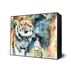 MR TIGER Mini Art Block by Lora Zombie