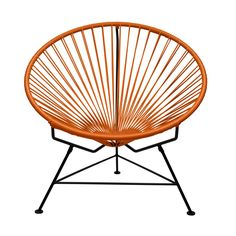 Sunburst Hoop Modern Lounge Chair in Orange ==