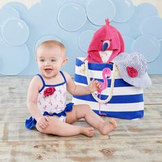 Sales Producers Inc. - Baby Aspen Under the Sea - Flamingo Four-Piece Nautical Gift Set with a Tote for Mom