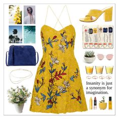"""""""yellow #1"""" by perfectgirll ❤ liked on Polyvore featuring Sachin + Babi, Gianvito Rossi, Chanel, Dot & Bo, The Row, Clinique, Eddie Borgo, Stephane + Christian, Elsa Peretti and Summer"""