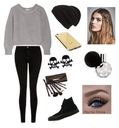 """""""Untitled #12"""" by sintija-tumblr on Polyvore featuring Phase 3, Oak, Current/Elliott, Converse, Goldgenie, Free People, Borghese, women's clothing, women and female"""