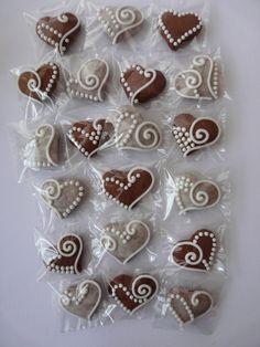 """""""Mini"""" mézeskalácsszív  csomag,esküvőre,bálra,stb.szóróajándékként is!, Dekoráció, Dísz, Esküvői kellékek, Ünnepi dekoráció, Meska"""