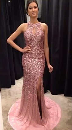 Sparkly Prom Dress, Halter Prom Dress,Crystal Beaded Prom Dress,Mermaid Evening Gowns,Mermaid Prom Dresses These 2020 prom dresses include everything from sophisticated long prom gowns to short party dresses for prom. Beaded Prom Dress, Mermaid Prom Dresses, Homecoming Dresses, Bridesmaid Dresses, Party Dresses, Dress Prom, Ball Dresses, Sweet 16 Dresses, Sweet Dress