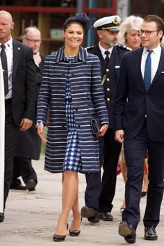 Swedish Crown Princess Victoria and Prince Daniel arrives for the Celebrations To Mark the 1,000th Anniversary of Skara Diocese on 30.08.2014 in Skara, Sweden