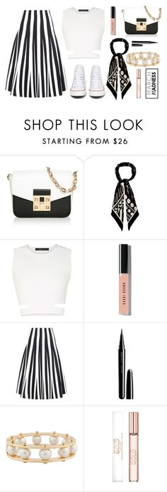 """""""B&W march madness"""" by sheepsy ❤ liked on Polyvore featuring LIU•JO, Rockins, BCBGMAXAZRIA, Bobbi Brown Cosmetics, Alexander Wang, Marc Jacobs, Lele Sadoughi, Converse, Spring and converse"""