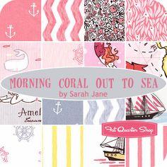 Morning Coral Out to Sea Fat Quarter Bundle Sarah Jane for Michael Miller Fabrics - Fat Quarter Shop