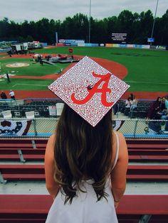 University of Alabama graduation cap Graduation Cap Toppers, Graduation Cap Designs, Graduation Cap Decoration, Graduation Diy, Graduation Pictures, Decorate Cap For Graduation, Sorority Graduation Caps, Custom Graduation Caps, Graduation Parties