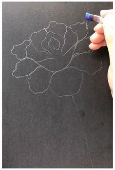 Acrylic Painting Flowers, Acrylic Art, Flower Paintings On Canvas, Painting Flowers Tutorial, Rose Paintings, Acrylic Painting Inspiration, Canvas Painting Tutorials, Painting Tools, Painting Art