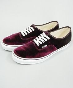 d9faaa90cf2 This CDG x Vans Authentic Is a Must-Have for Comme-Heads. purple velvet ...
