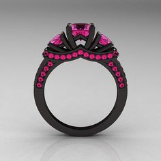 82 best Pink and Black Rings images on Pinterest | Jewelry, Rings ...