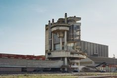 """The abandoned brutalist Casa Del Portuale, a building for """"Social Services for Workers in the Port of Naples"""" by architect Aldo Loris Rossi, Naples - purple DIARY"""