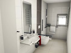 Badplanung | Barrierefreies Bad Walk In Shower, Toilet, Sink, Bungalows, Disability, Bathrooms, Therapy, Technology, Future