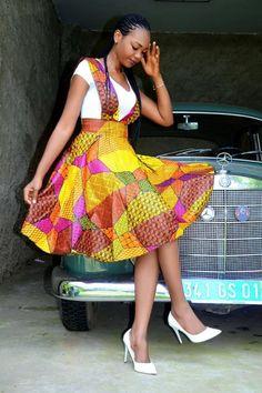 Stephanie African fashion, Ankara, kitenge, African women dresses, African prints, African men's fashion, Nigerian style, Ghanaian fashion DKK   African Dress Code