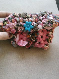 pretty flower fabric crochet wallet by crazydesigns2012 on Etsy, $15.00