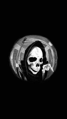 Grim Reaper In A Spyhole - The iPhone Wallpapers Gothic Wallpaper, Skull Wallpaper, Black Aesthetic Wallpaper, Dark Wallpaper, Aesthetic Iphone Wallpaper, Aesthetic Wallpapers, Wallpaper Backgrounds, Wallpaper Desktop, Foto Fantasy