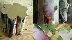 Do Melhor Jeito - Reciclagem: Puff feito de tubos de papelão - DIY
