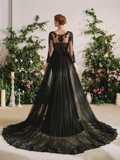 The Gothic Diva Black Wedding Dress – Goth Mall Black Bridal Dresses, Goth Wedding Dresses, Black Wedding Gowns, Bridal Gowns, Halloween Wedding Dresses, Black Wedding Decor, Gothic Wedding Ideas, Victorian Gothic Wedding, Black Flower Girl Dresses
