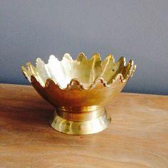 Vintage brass scalloped bowl $30.00 USD