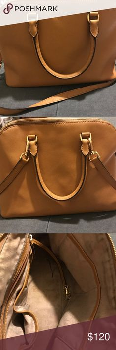 Michael Kors Purse Preowned Authentic Mk Purse, Chestnut in color, no outside visible spots however inside has a couple of stains. Normal wear and tear. Michael Kors Bags Mini Bags