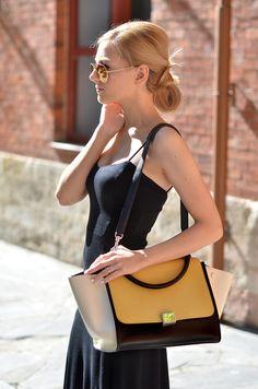 Henar Vicente of OhMyVogue wears an ASOS dress and CELINE bag. (September 8, 2013)