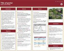 Displaying A Poster At A Conference Is A Good Way To Disseminate
