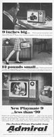 Admiral New Playmate 9 TV 1966 Ad Picture