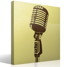 El micrófono 55SH es un auténtico icono sobre los escenarios desde hace 70 años. Lo hizo popular Elvis Presley y ahora se ha convertido en la imagen de muchos concursos musicales de televisión. El vinilo decorativo perfecto para dar un aire musical a tu pared.