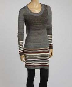 Take a look at this Dark Shadow Stripe Willa Tunic by Aventura on #zulily today!