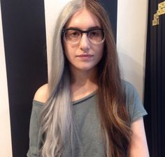 <b>A mix between the granny hair and split dye trend? Thecolormix, you're doing it right.</b>