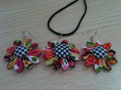 Beautiful fabric jewellery set