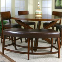 Our Triangular Dining Table With Two Tone Bench And Swivel Stools! Canu0027t  Wait To Add Accents And A Centerpiece 😍 | HumbleAbode | Pinterest |  Stools, ...