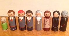 Harry Potter Wooden Pegs  Peg Dolls  Children's by maidenkentucky