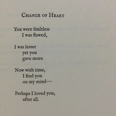 Lang Leav, poetry, and change of heart image