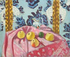Henri Matisse (French, 1869-1954). Still Life with Apples on a Pink ...  arthistory.about.com  Volledige grootte