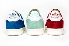 A refreshing new rendition with a subtly nostalgic twist. The #StanSmith suede pack drops March 1st #adidasoriginals