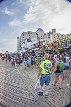 Vacation destination, Ocean City, MD Boardwalk- our family had gone every summer for 20 years. Ocean City Boardwalk, Ocean City Md, Best East Coast Beaches, Dew Tour, Fenwick Island, Bethany Beach, Rehoboth Beach, Travel Usa, Travel Tips