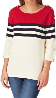 Pin for Later: Is Riviera Chic the Most Stylish Summer Look? Mais Oui Maison Scotch Retro Sailor With Button Detail Down The Sleeves Jumper Maison Scotch Retro Sailor With Button Detail Down The Sleeves Jumper (£43, originally£86)